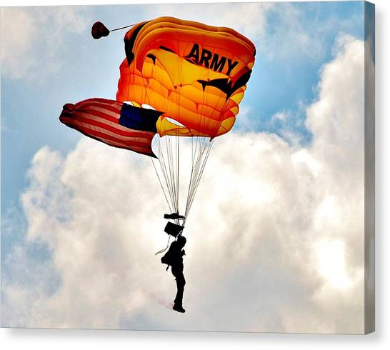 Army Paratrooper 2 Canvas Print
