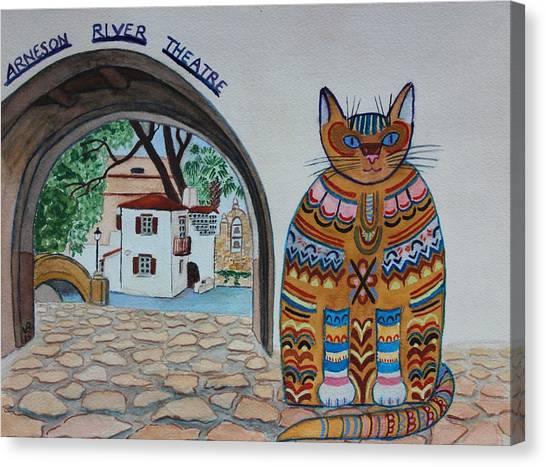 Arneson Theatre Cat Canvas Print