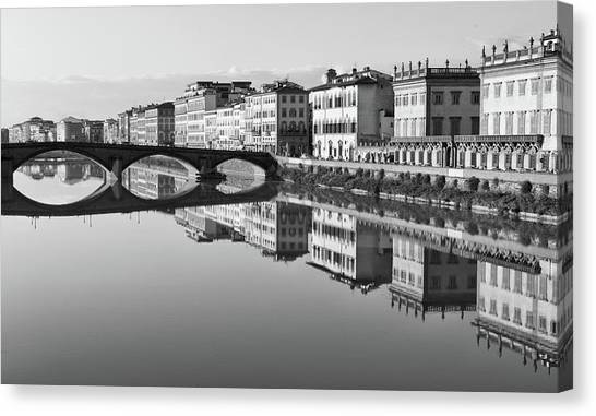 Arno Reflections 1 Canvas Print