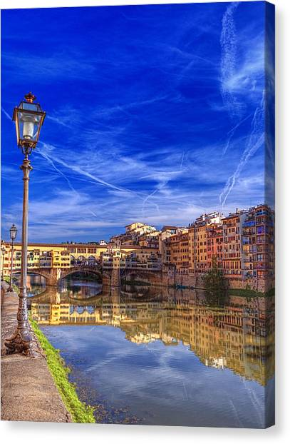 Arno River Florence Canvas Print by Clint Hudson