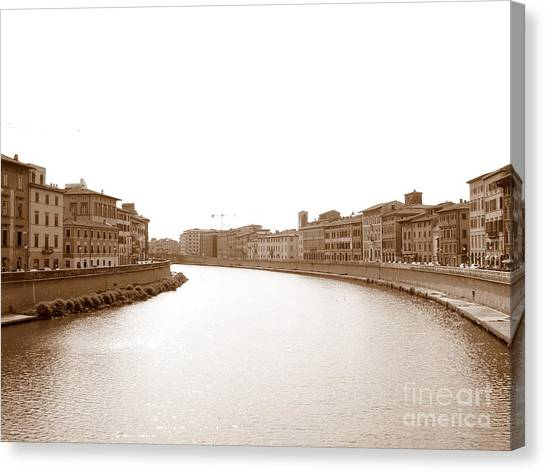 Arno River In Pisa Canvas Print