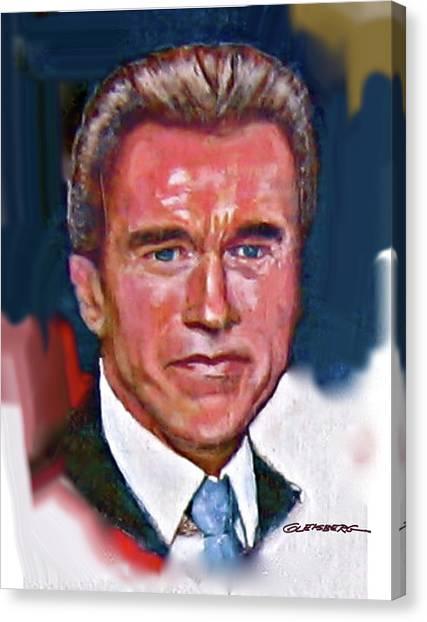 Arnold Schwarzenegger Canvas Print by Craig A Christiansen