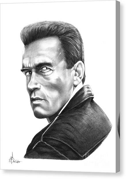 Arnold Schwarzenegger Canvas Print - Arnold Schwarzenegger by Murphy Elliott