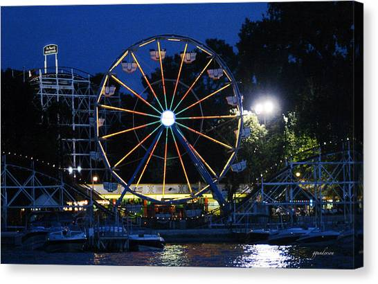 Arnolds Park At Night Canvas Print