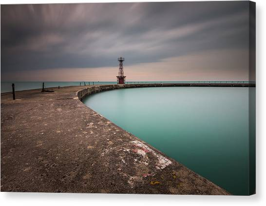 Around The Aqua Canvas Print