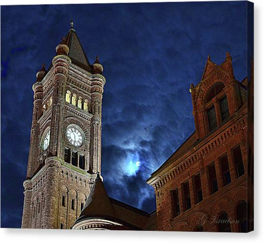 Around The Clock Tower Canvas Print