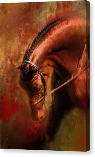 Around The First Turn Equestrian Art Canvas Print