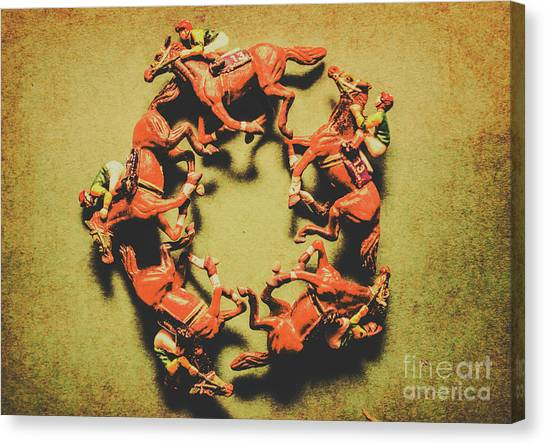 Saddles Canvas Print - Around The Racetrack by Jorgo Photography - Wall Art Gallery