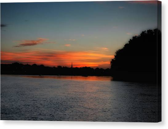 Around The River Bend Canvas Print by Ross Powell
