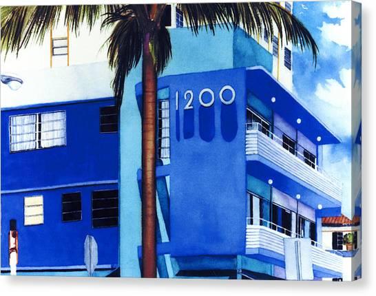 Maureen Hunt Piccirillo Canvas Print - Around Twelve Noon In South Beach by Maureen Piccirillo