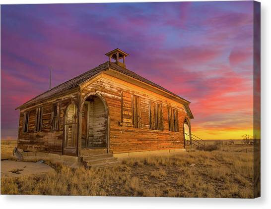 Prairie Sunrises Canvas Print - Aroya Sunrise by Bridget Calip