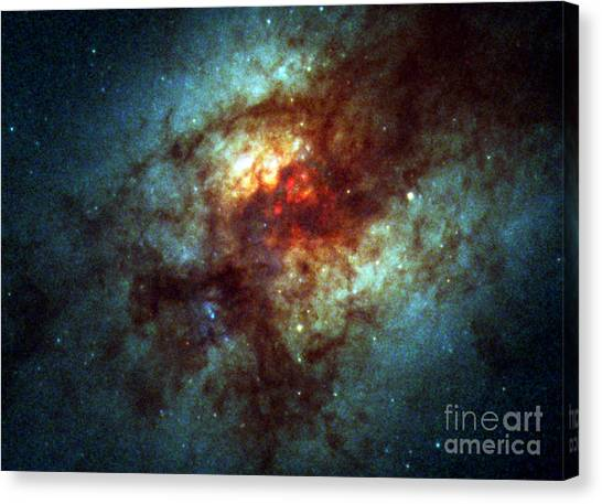 Luminous Body Canvas Print - Arp 220, Ultraluminous Infrared Galaxies by Science Source