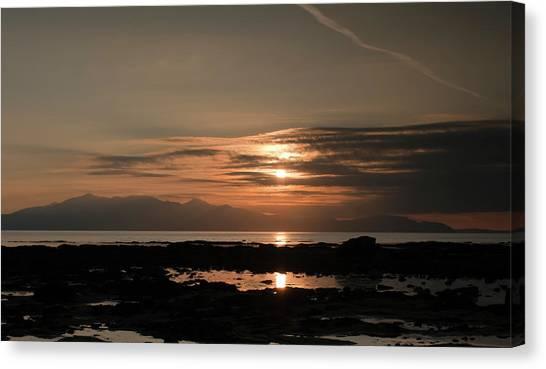 Arran Sunset Canvas Print by Sam Smith