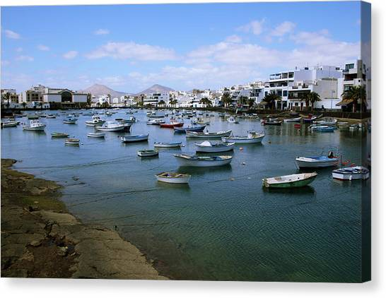 Canaries Canvas Print - Arrecife - Lanzarote by Cambion Art