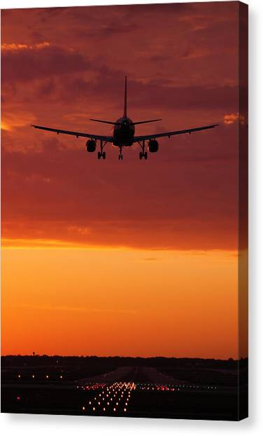 Business-travel Canvas Print - Arriving At Day's End by Andrew Soundarajan