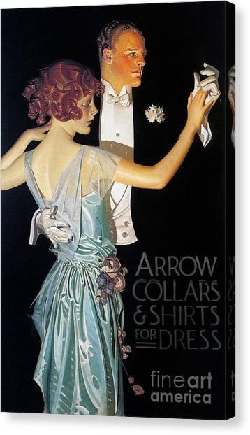 Tuxedo Canvas Print - Arrow Shirt Collar Ad, 1923 by Granger
