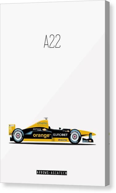 Arrows Asiatech A22 F1 Poster Canvas Print