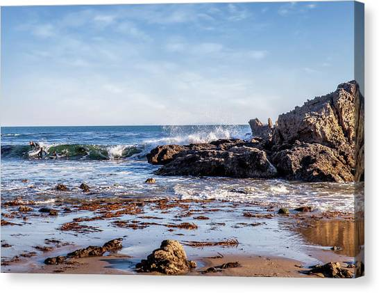 Arroyo Sequit Creek Surf Riders Canvas Print