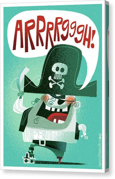 cartoon characters canvas print arrrrggh by daniel guidera - Cartoon Characters To Print