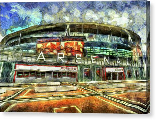 Arsenal Fc Canvas Print - Arsenal Fc Emirates Stadium London Art by David Pyatt