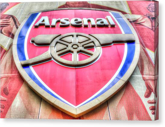 Arsenal Fc Canvas Print - Arsenal Football Club Symbol by David Pyatt