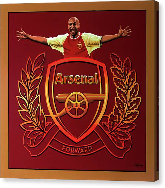 Arsenal Fc Canvas Print - Arsenal London Painting by Paul Meijering