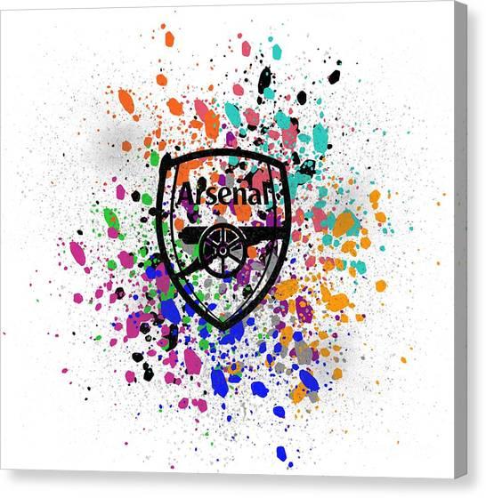 Arsenal Fc Canvas Print - Arsenal Watercolor by Yanto Nuzu