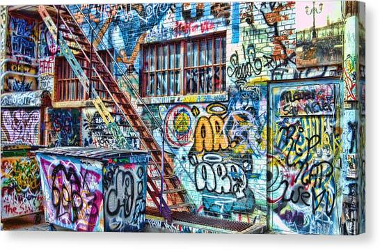 Art Alley 2 Canvas Print