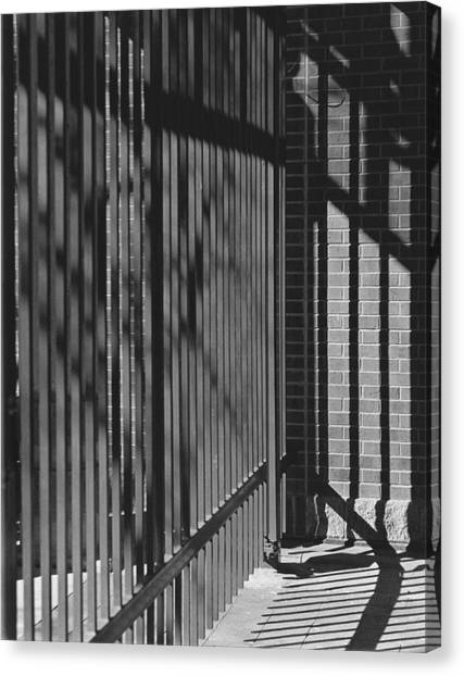 Art And Design Center Security Gate Canvas Print by Jim Furrer