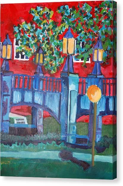Art Bridge - University Of Iowa Canvas Print by Jame Hayes