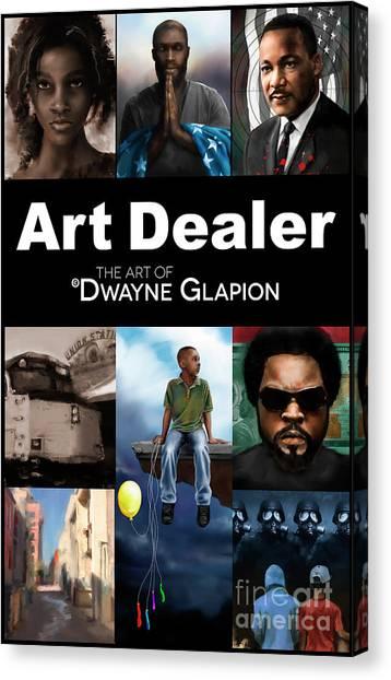 Canvas Print featuring the digital art Art Dealer Promo 1 by Dwayne Glapion