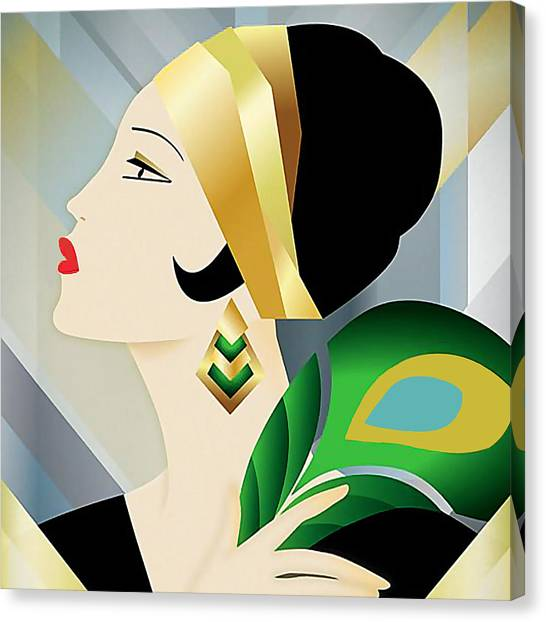Roaring 20s Flapper Canvas Print