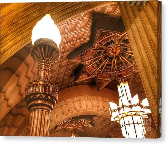 Art Deco Ceiling Canvas Print