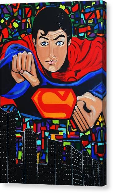 Art Deco  Superman Canvas Print