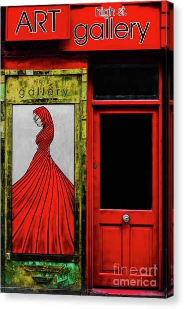 Art Gallery Shop Front Canvas Print