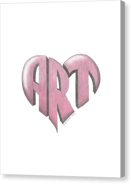 Art Heart Canvas Print