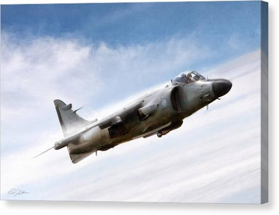 Royal Marines Canvas Print - Art In Motion by Peter Chilelli