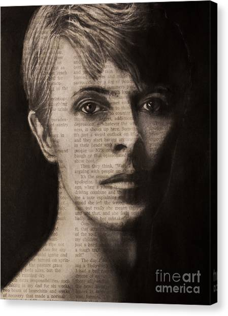Art In The News 78-bowie Canvas Print