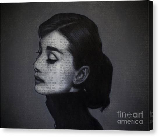 Art In The News 98-audrey Hepburn Canvas Print