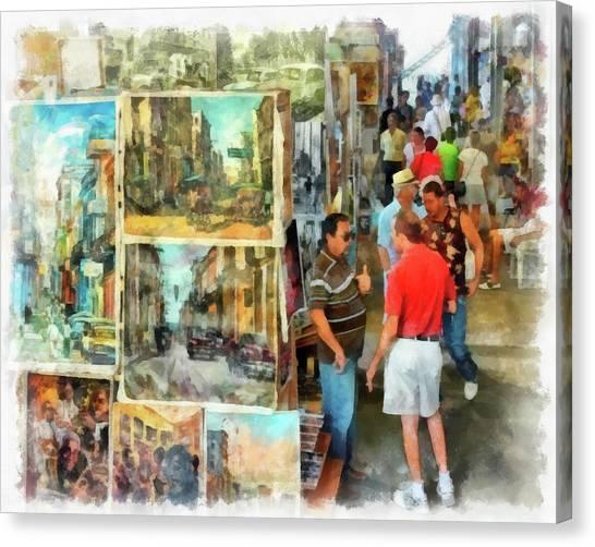 Art Market Canvas Print