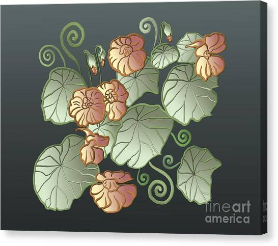 Art Nouveau Garden Canvas Print