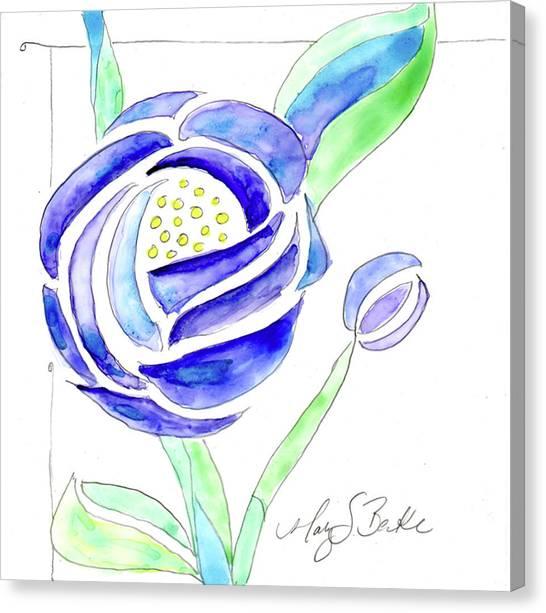 Art Nouveau Roses II Canvas Print