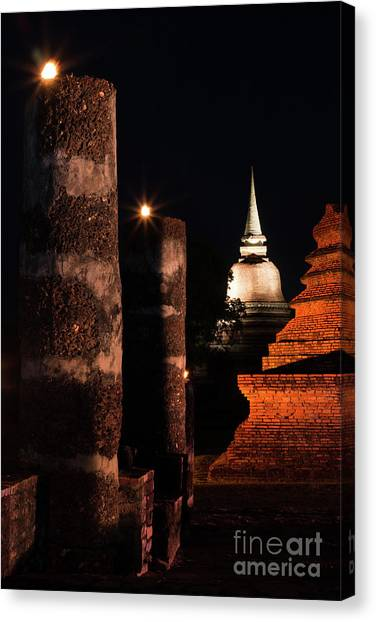 Peace Tower Canvas Print - Art Of Chedi by Atiketta Sangasaeng
