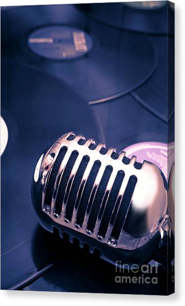 Microphones Canvas Print - Art Of Classic Communication by Jorgo Photography - Wall Art Gallery