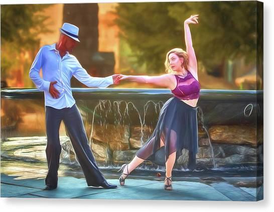 Art Of The Dance Canvas Print by John Haldane