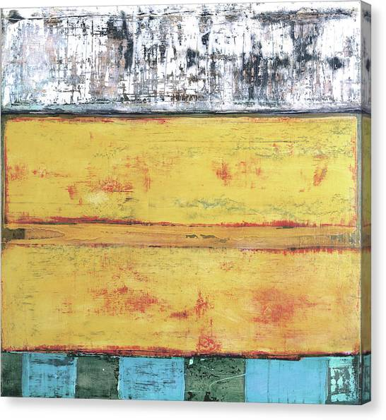 Canvas Print featuring the painting Art Print Abstract 34 by Harry Gruenert