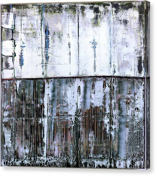 Canvas Print featuring the painting Art Print Abstract 45 by Harry Gruenert