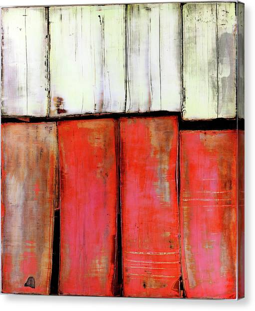 Canvas Print featuring the painting Art Print Abstract 88 by Harry Gruenert
