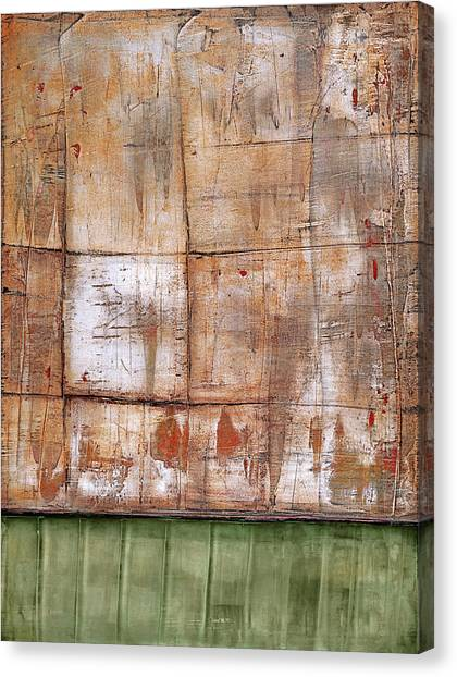 Canvas Print featuring the painting Art Print Abstract 35 by Harry Gruenert