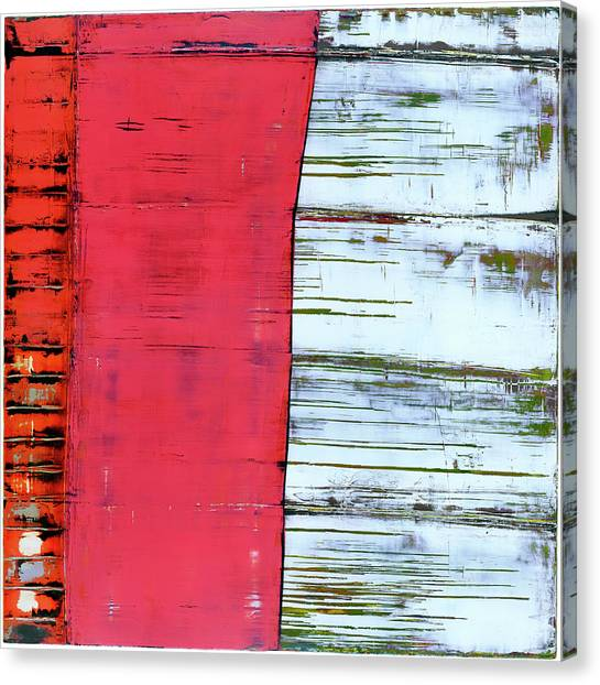 Canvas Print featuring the painting Art Print Abstract 75 by Harry Gruenert